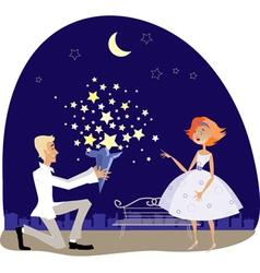 valentine stars vector image vector image