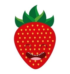 fruit character cute icon vector image vector image