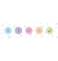 5 image icons vector