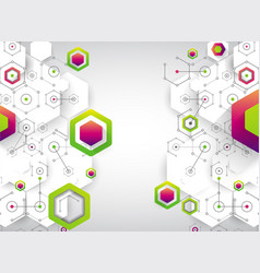 Abstract background science template wallpaper or vector