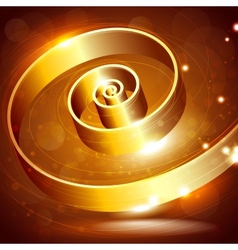 Abstract background with a golden swirl vector