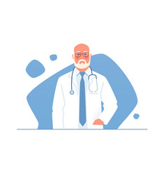 an older physician doctor vector image