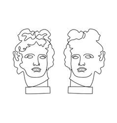Apollo antique statues antique statues vector
