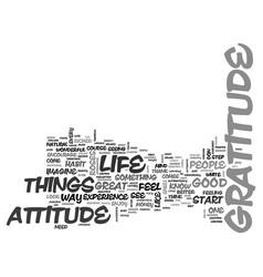 Attitude of gratitude text word cloud concept vector