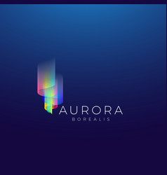 aurora borealis abstract sign emblem or vector image