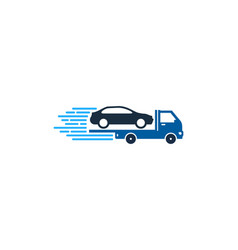automotive delivery logo icon design vector image