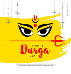 Banner design happy durga puja vector