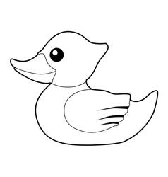 bath duck vector image