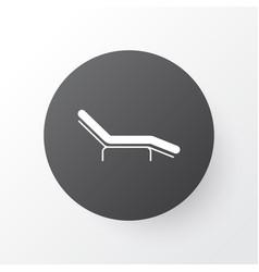 beach chair icon symbol premium quality isolated vector image