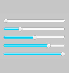 Blue and gray slider bars vector