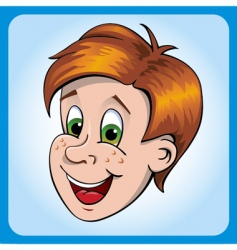 boys head vector image