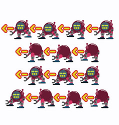 characters robot walk game flat icon man vector image