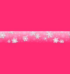 Christmas banner with white snowflakes vector