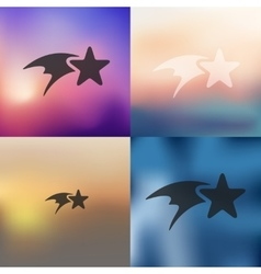 Christmas star icon on blurred background vector