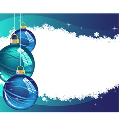 Christmas wavy glowing background vector image