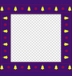 cute christmas or new year square border photo vector image