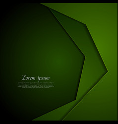 dark green corporate tech art background vector image