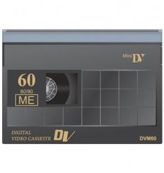 digital video tape vector image