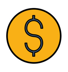 dollar money symbol vector image