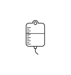Drop counter with blood line icon blood donor vector