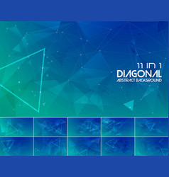 Duotone diagonal line abstract background 3 vector