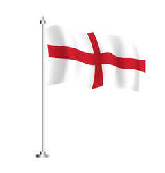 england flag isolated wave flag england country vector image