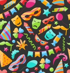 Festive Carnival Seamless Wallpaper vector image