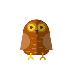 flat owl icon owl vector image