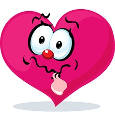 Funny heart grinning vector