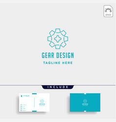 gear logo line icon industry initial g symbol vector image