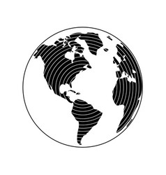 globe earth 21 vector image