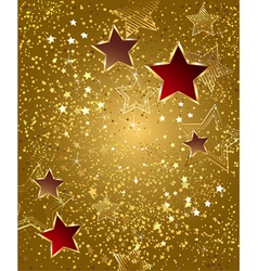 gold foil with stars vector image