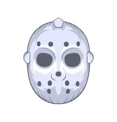 Hockey goalie mask icon cartoon style vector