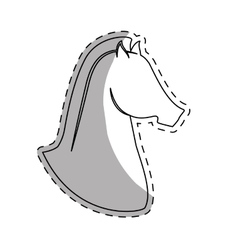 Horse equine icon image vector