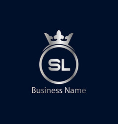 Initial letter sl logo template design vector