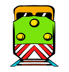 locomotive icon cartoon vector image