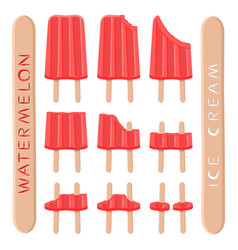 Logo for natural watermelon ice cream vector