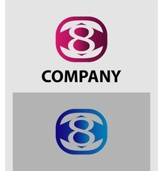 Logo icon design template elements The number 8 vector