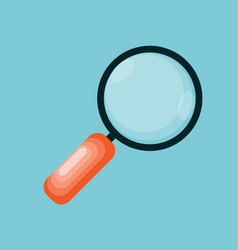 Magnifying glass icon in modern flat style vector