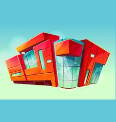 mall supermarket building facade exterior vector image