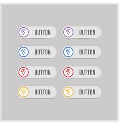 Map pin icon vector