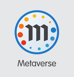 Metaverse virtual currency - coin image vector