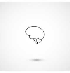 Minimal brain icon vector image