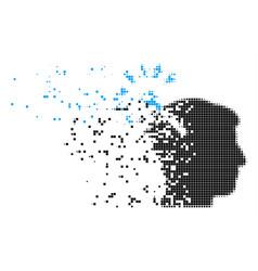 Optical neural interface broken pixel icon vector
