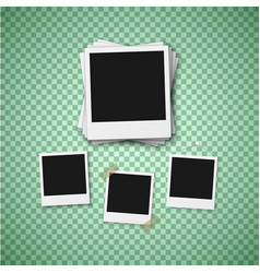 photo realistic instant photo frame template vector image