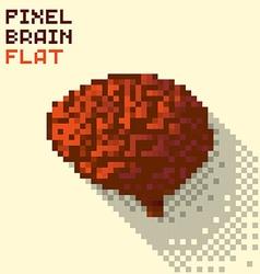 Pixel human brain vector image