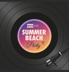 Poster-flyer-summer-beach-party-vinyl-style vector