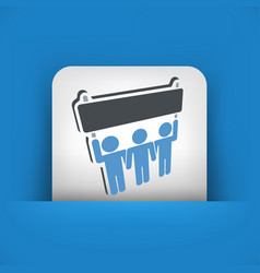 Protest or support group icon vector