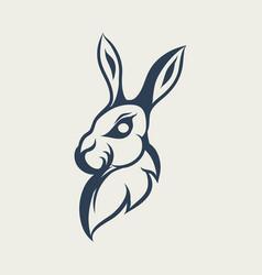 rabbit logo design icon vector image