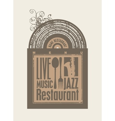restaurant music vector image